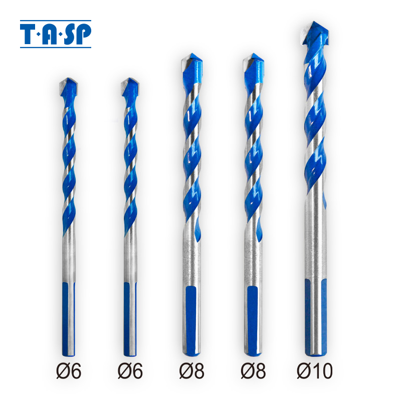 TASP Multi Purpose Construction Drill Bit Set Carbide Tip For Masonry Tile Wood Metal Drilling -MDBK021