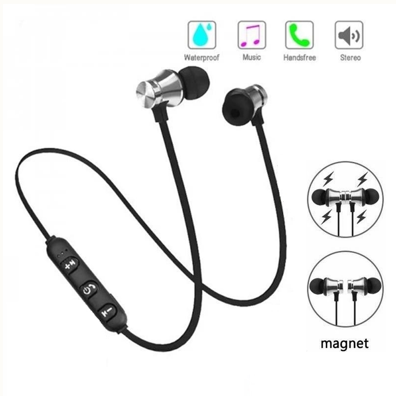 XT11 Magnetic Wireless Bluetooth Earphones Running Music Headset Neckband Sports Earbuds Earphones With Noise Cancelling Mic 1