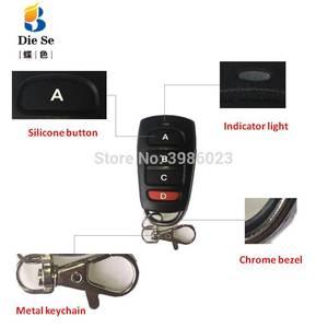 Image 3 - 433mhz universal sem fio de controle remoto para portão garagem dc 12v 1ch relé módulo receptor 4 botão controle remoto rf interruptor