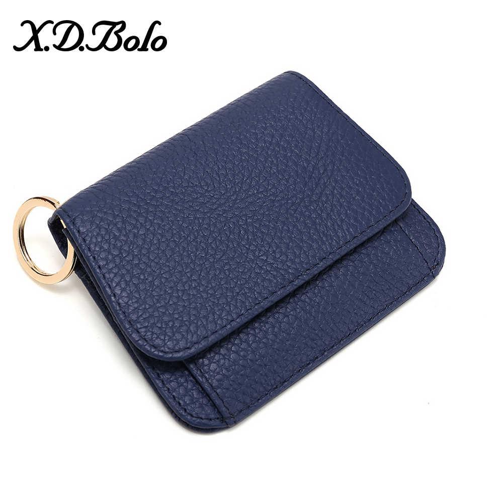 Xdbolo xdbolo couro carteira feminina moda moeda bolsa para mulher titular do cartão pequenas senhoras carteira de couro feminino mini carteiras