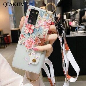 Image 5 - Çiçek bileklik kayışı durumda Samsung Galaxy A71 A51 A72 A52 A41 not 20 10 S21 Ultra S20 FE A70 a50 tutucu standı telefon kapak