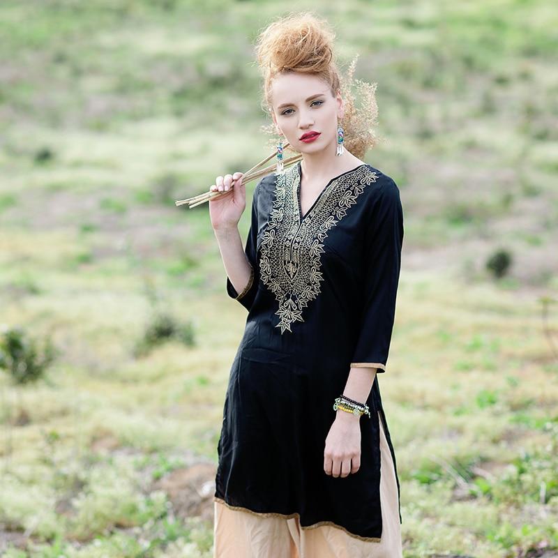 Indian Dress for Women Ethnic Blouses Embroidery Vestido Indiano India Clothing Womens Suties Pakistani Kurta Kurti