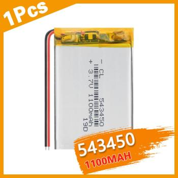 1Pcs 1100 mAh 543450 3.7V Polymer Lithium Rechargeable Battery Li-ion Battery 543450 for Smart Phone DVD MP3 MP4 Led Lamp image