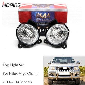 1 Set For Toyota Hilux Vigo champ 2011 2012 2013 2014 Front Bumper Fog Light Lamp Halogen Wiring Wires Switch Harness Kit Set