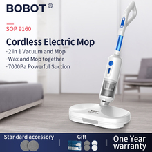 BOBOT SOP 9160 Multifunction Vacuum Cleaner Mop Integrated with 3 Replace Head Handheld Vacuum Cleaner Disposable Mopping Cloth