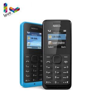 Телефон Nokia 105, версия с одной и двумя Sim-картами, поддержка GSM, иврит, арабский, русская клавиатура, б/у разблокированный телефон