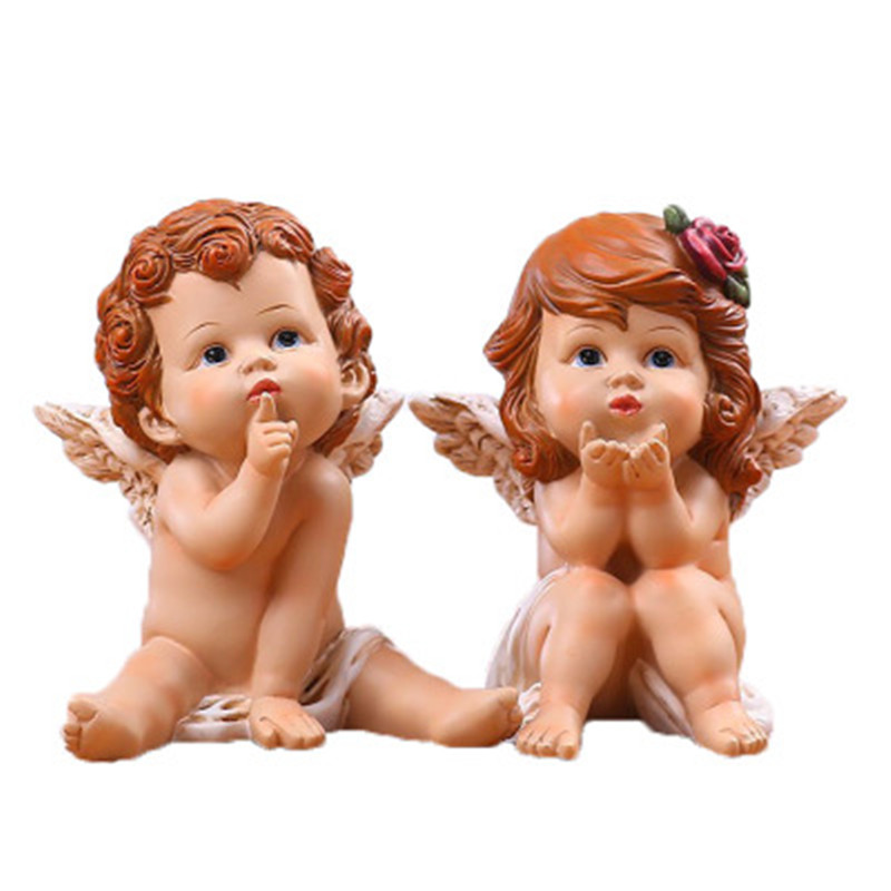 European Resin Crafts Little Angel Wedding Supplies TV Cabinet Decoration God Cupid Angel Wedding Gift A644|Statues & Sculptures| |  - title=