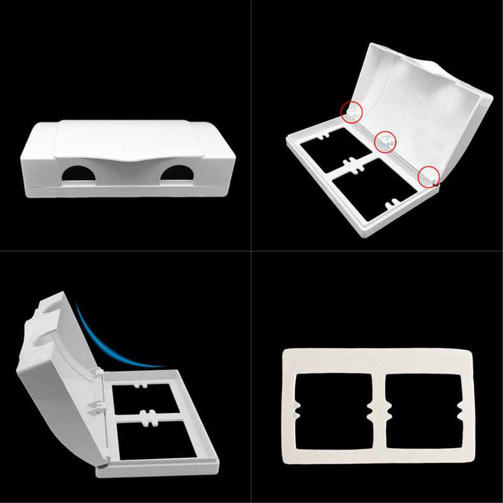 Cover Child Safety Baby Outlet Box Waterproof Double Socket Office Wall Mount Durable Household Switches Electric Protector