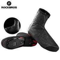 ROCKBROS Thermal Cycling Shoe Cover Reflective Rainproof High Elastic Adjustable Windproof Ski Bike m MTB Shoe Covers Overshoes|  -