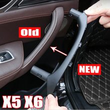 For BMW X6 E71 xDrive35i 2011 2014 Car Left Right Front Inner Door Panel interior handle pull trim cover styling accessories