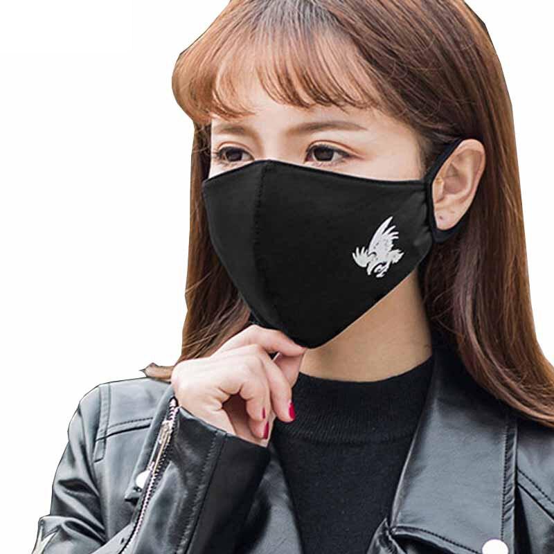 1PCS Cotton Dustproof Mouth Face Mask Anime Cartoon Luminous Women  Muffle Face Mouth Masks Reusable
