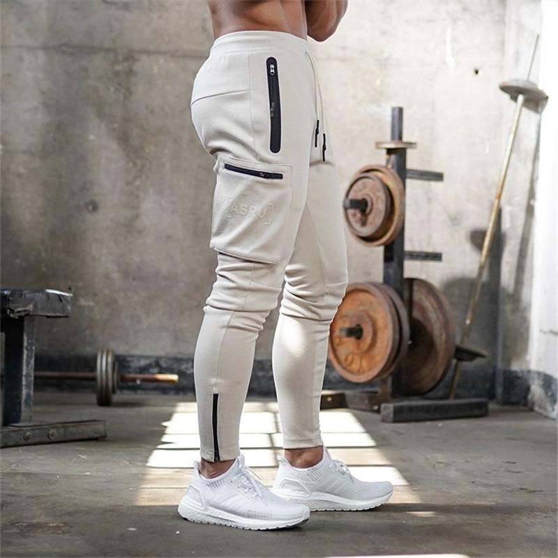 Autumn Winter Men Trousers Casual Sweatpants Male Gyms Fitness Bodybuilding Workout Letter Warm Sportswear Brand Pencil Pants
