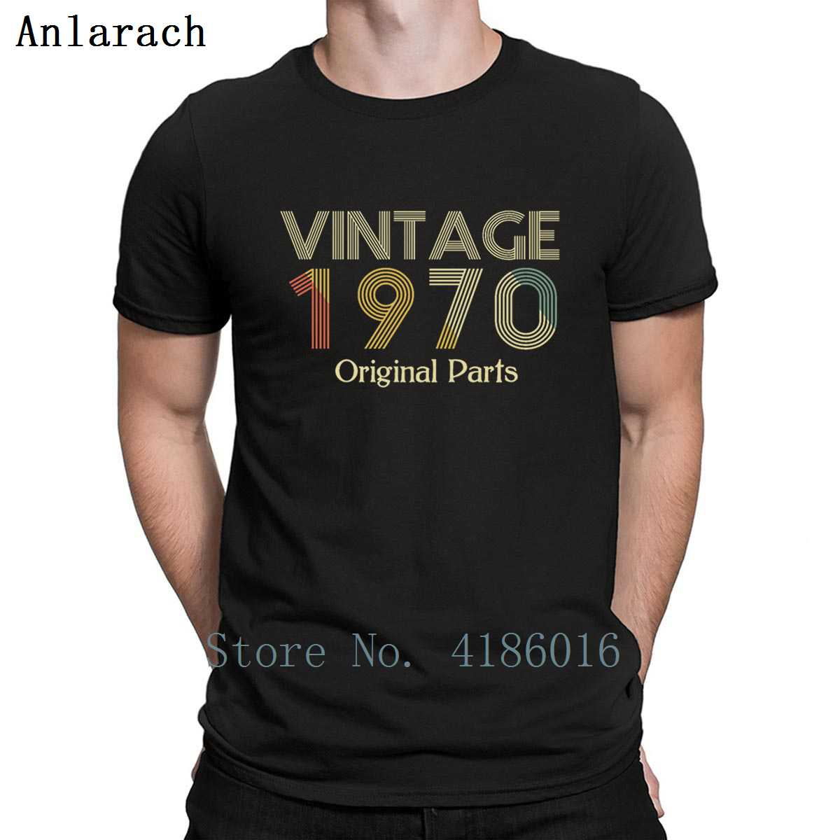 <font><b>Vintage</b></font> <font><b>1970</b></font> Original Parts Birthday Italic T Shirt Customized Letter Kawaii Summer Style Euro Size S-5xl Cotton Casual Shirt image