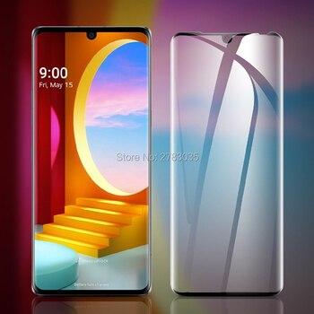 Перейти на Алиэкспресс и купить Для LG Velvet LM-G900N G900EM 6,8 дюйм9H твердость 3D полное покрытие тонкая закаленная изогнутая Защитная стеклянная пленка для экрана