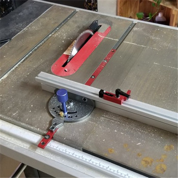 600mm/800mm Miter Gauge woodworking push handle mountainside saw band saw carving machine flip angle plate DIY woodworking tool
