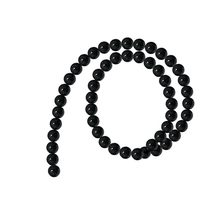 2020 New Fashion Men Bracelet Sets Trendy Handmade Natural Gemstone Round Spacer Loose Beads 1 Strand (Black 8mm 45Beads)(China)