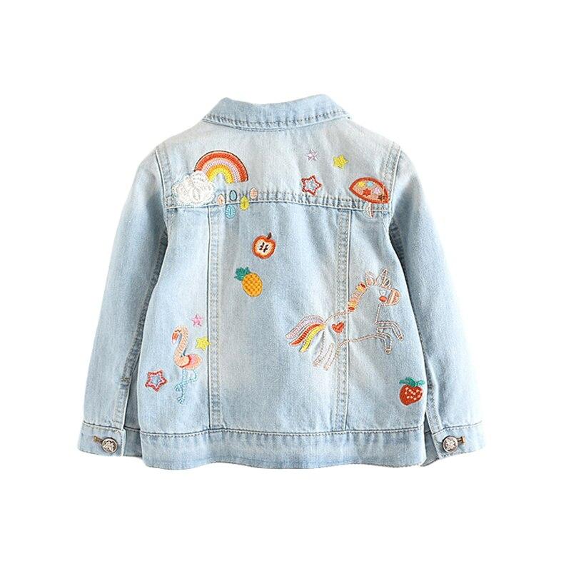 criancas denim jaquetas para meninas bordados flamingo 04