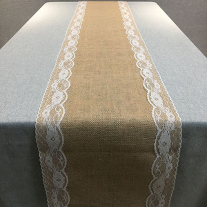 Image 5 - Vintage Natural Burlap Jute Linen Table Runner Christmas Wedding Champagne Table Runners Dining Room Restaurant Table Gadget