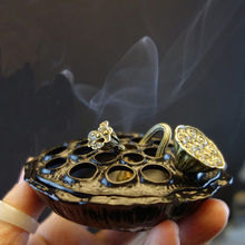 Alloy lotus tent antique sandalwood stove Zen agarwood incense burner incense incense burner tea ceremony aromatherapy furnace o