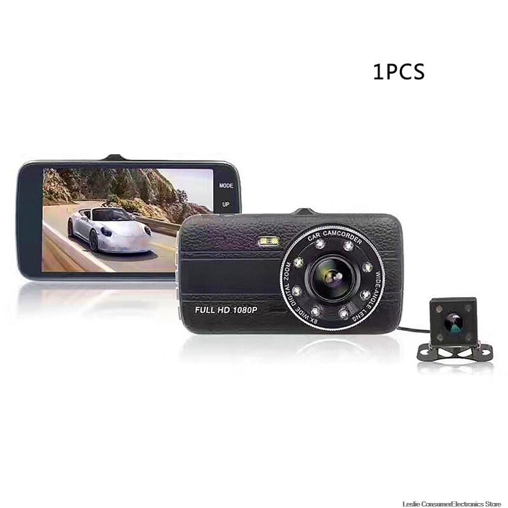 Nova condução recorder4 Polegada gravação dupla hd invertendo imagem gravador de condução 4 Polegada peças automóveis câmera grande angular lente do carro