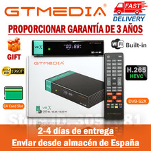 1080p fhd gtmedia v8x DVB-S2 receptor de satélite mesmo que gtmedia v8 honra construído em wifi atualização gtmedia v8 nova/v9 super nenhum aplicativo