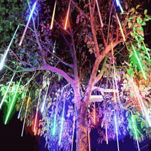 LED Meteor shower Decoration Christmas tree lights outdoor 8 Tubes 30cm 50cm 110V 220V Multi-color Wedding Party Garden Xmas