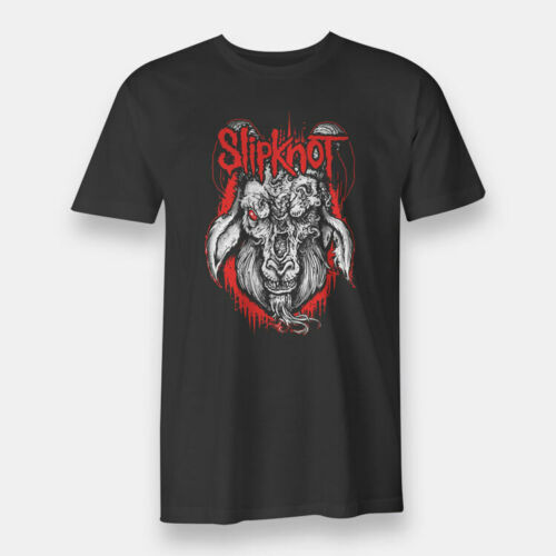 <font><b>Iowa</b></font> Heavy Metal <font><b>Slipknot</b></font> Band Black T-shirt Men's Tee Size S to XXXL 100% Cotton For Man Shirts image