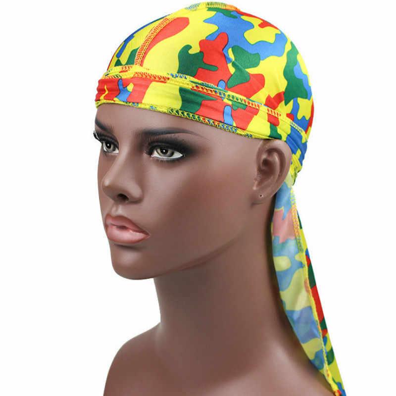 Аксессуары для волос Camo Durag банданы головные уборы для женщин и мужчин длинный хвост пиратская шляпа волны ДУ Бандана тюрбан защитный колпачок