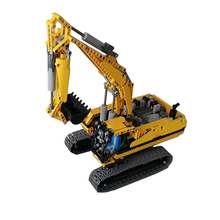 Building Blocks Compatible MOC-0080 Ultimate Excavator Technic Bricks Birthday Gifts Fit lepining Brick Diy Toy Christmas Gift lepin 20025 760pcs technic the red engineering excavator set building blocks bricks model toys christmas gifts compatible 8294