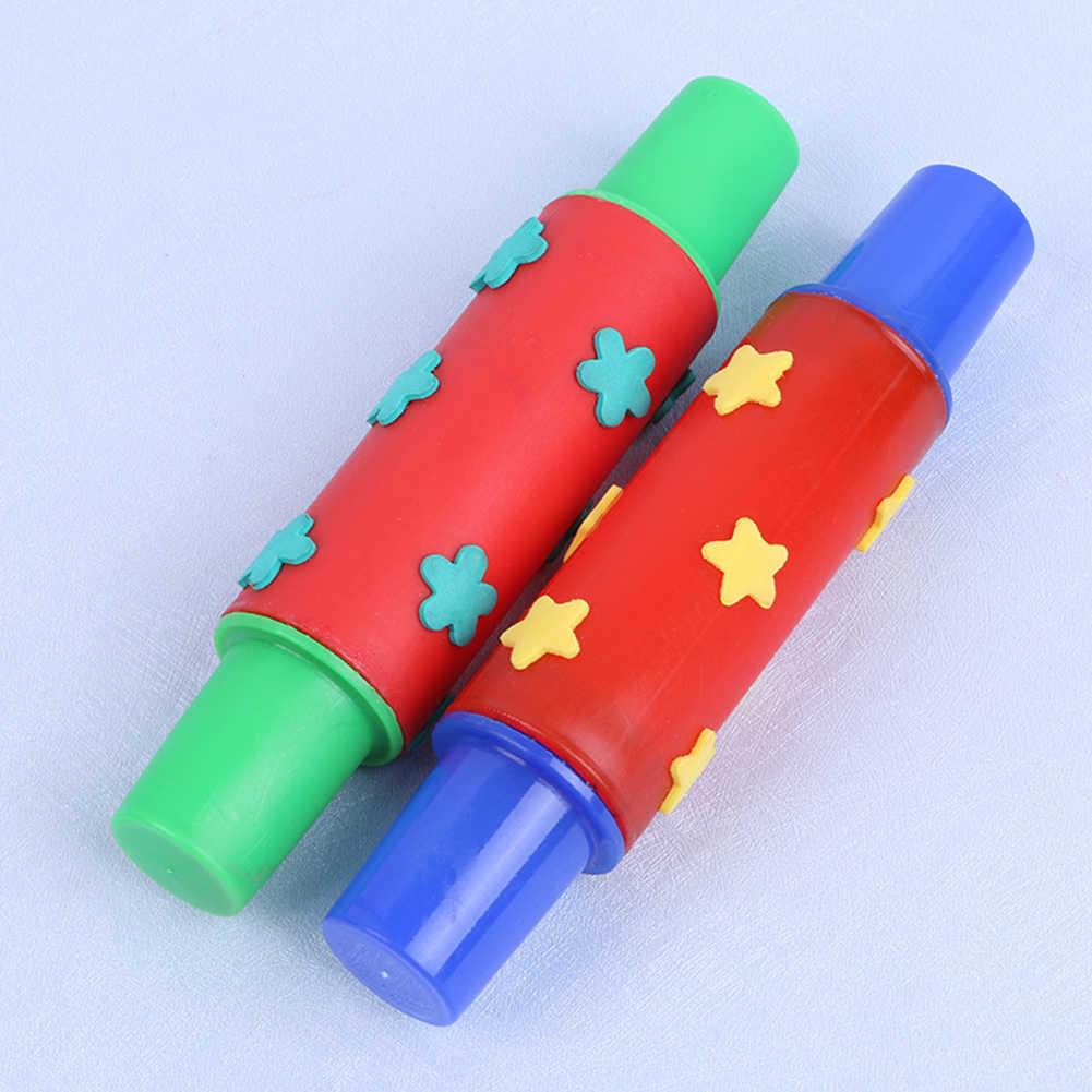 ดอกไม้ Star ฟองน้ำ Roller Paintbrush DIY เด็ก Rolling Pin ภาพวาดของเล่นเด็ก Graffiti เครื่องมือวัสดุศิลปะที่สมบูรณ์แบบของเล่น