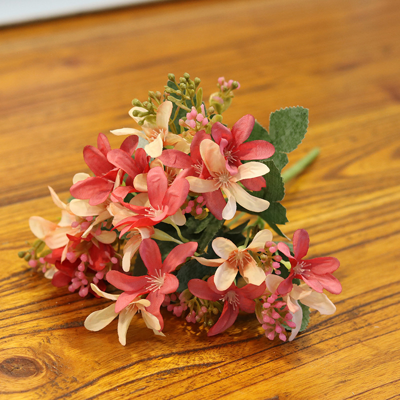 Bouquet Artificial Flower Home Decoration Display Wedding 20 Head Narcissu Centerpiece Branch in Artificial Dried Flowers from Home Garden