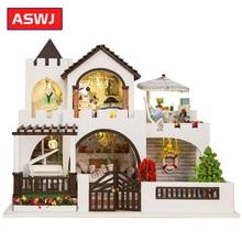 DIY Кукольный дом замок мечты ручной сборки дом модель вилла деревянная мебель для дома игрушки для детей Рождественский подарок