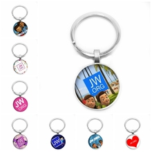 2019 Hot JW.ORG Keychain Fashion Jehovahs Witness and Romantic Elegant Glass Picture Cabochon Accessories JW Jewelry