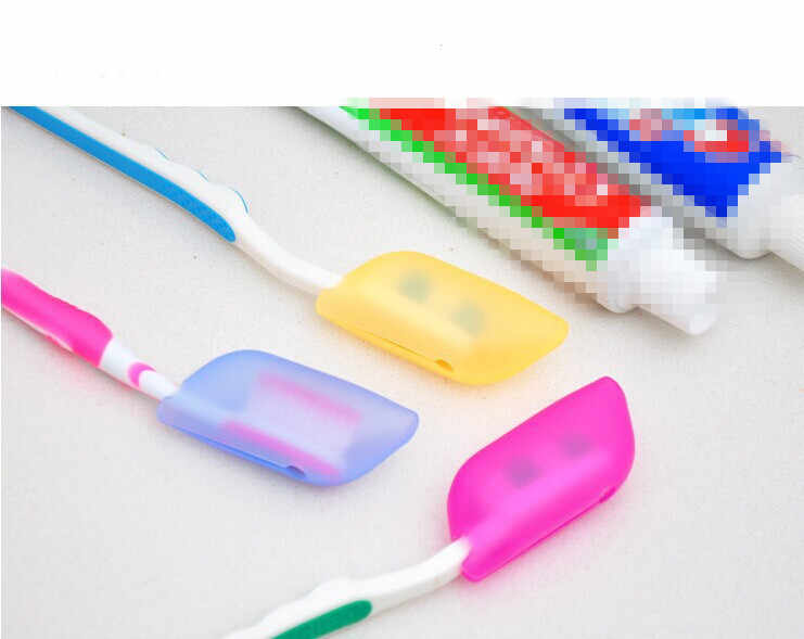 3 個ポータブルヘッドカバー歯ブラシトラベルハイキングキャンプハイキング保護ブラシクリーナー高品質