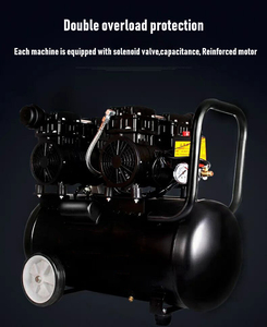 Image 5 - Air Compressor Oil Free Low Noise Silent Oil free Pump For Pneumatic Part Cylinders Filling Machine Free Shipping 1000w 30L Tank