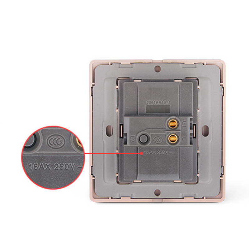 One Button 1 Way LED Indication Light Switch Wall Switch Panel Touch Control Portable Lighting Accessories    - title=
