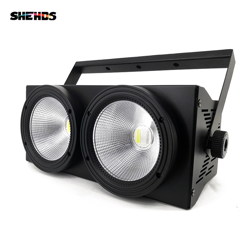 SHEHDS 2eyes 200w COB LED Blinder Light DMX Stage Lighting Effect Cool And Warm White Color For TV Show Party Spectator Seats