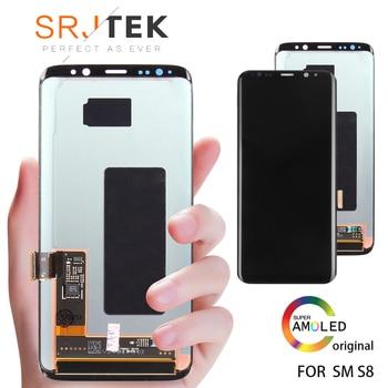 Garanti AMOLED Ekran SAMSUNG Galaxy S8 Ekran Değiştirme LCD dokunmatik sayısallaştırıcı tertibatı S8 Artı LCD G950 G950F G955 G955F