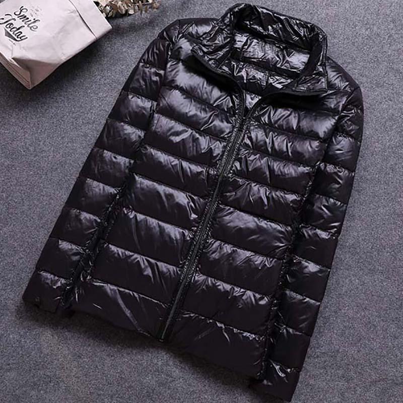 Plus Size 6XL Winter Down Jacket Women Outerwear Warm Coat Ultralight Large Size Black Basic Jacket Female Parka Overcoat