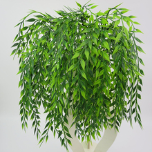 Artificial Plant Willow Wall Home Decoration Balcony Flower Basket Accessories Green Hanging