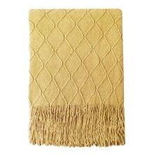 Желтое одеяло, мягкий чехол для дивана, постельные принадлежности, декоративное одеяло, одеяло для кондиционирования воздуха