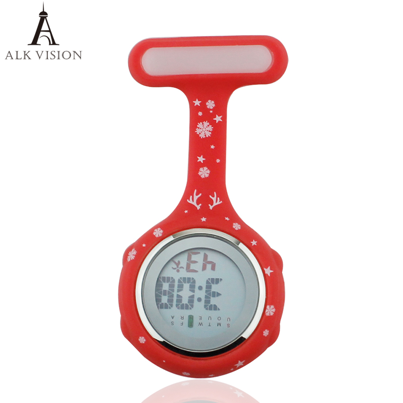 2019 Nurse Watch Digital Silicone Medical Watch Fob Brooch Watch Nurse Doctor With Clip Dropshipping Merry Christmas