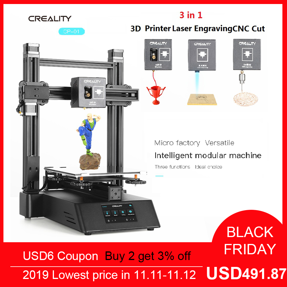 3D Printer CREALITY CP-01 Upgraded 3 In 1 Ender Wood Router  CNC 500mw Laser Engraving 3D Printer DIY Self-assembly Kit