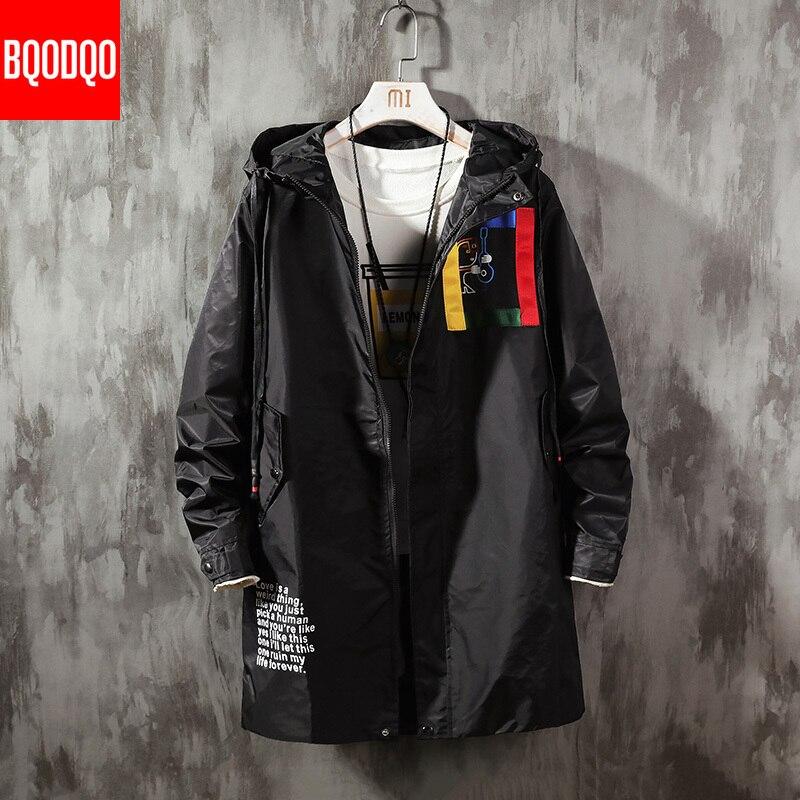 BQODQO 2019 Windbreaker For Men's Autumn Outwear Fashion Costume Social Windbreaker Stranger Stylish Streetwear Outwear  Clothes