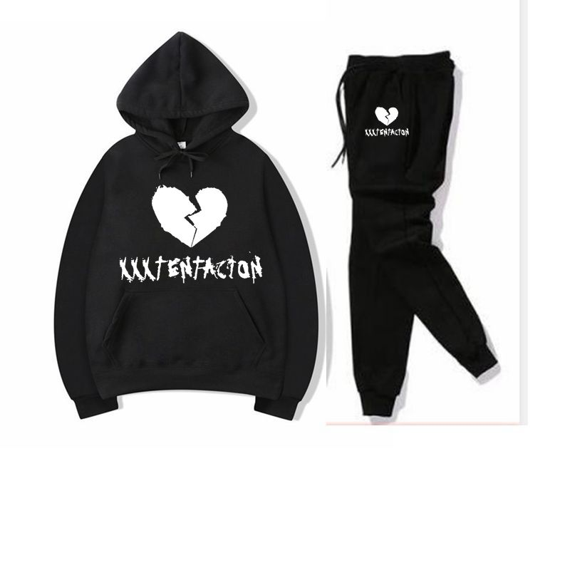 2019 Autumn/Winter XXXTentacion Revenge Kill Hip Hop Hoodies Sweatshirts And Sweatpants Men Two Piece Set Hooded Suit