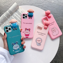 Russian 3D Cute Case Four Pig For Samsung