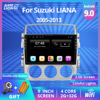 9 2DIN Android 8.1 Car Radio For Suzuki LIANA 2006 -2013 Multimedia Player With 2.5D Touch Screen WIFI 2din Gps DVD Player hactivol 9 car radio for suzuki sx4 2006 2012 fiat sedici 2006 2010 android 7 0 1 car dvd player with bluetooth 1g ram 16g rom