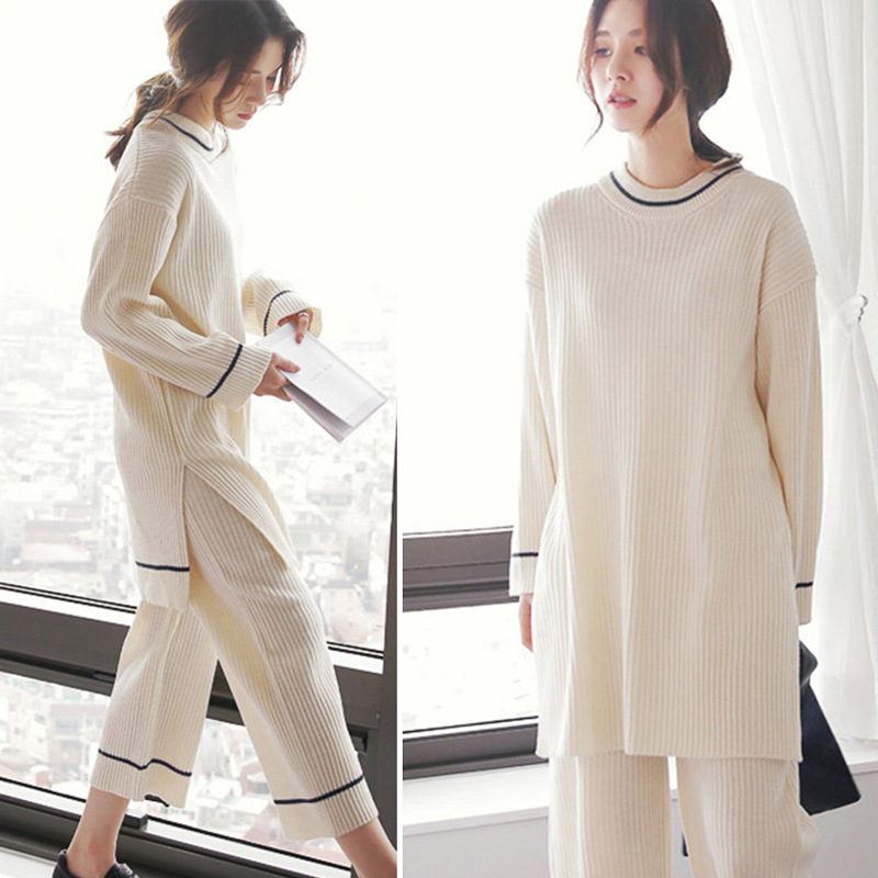 2017 South Korea Pajamas Women's Spring And Autumn Loose-Fit Loose Pants Fresh Long Sleeve Autumn Korean-style Homewear Set