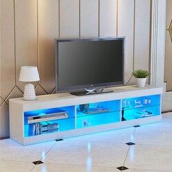 57 ''LED Light High Gloss TV หน่วยตู้ขาตั้งสีขาวสีดำไม้ห้องนั่งเล่นเป็นสินค้าที่ห้องนอนห้องนอนเฟอร์นิเจอร...