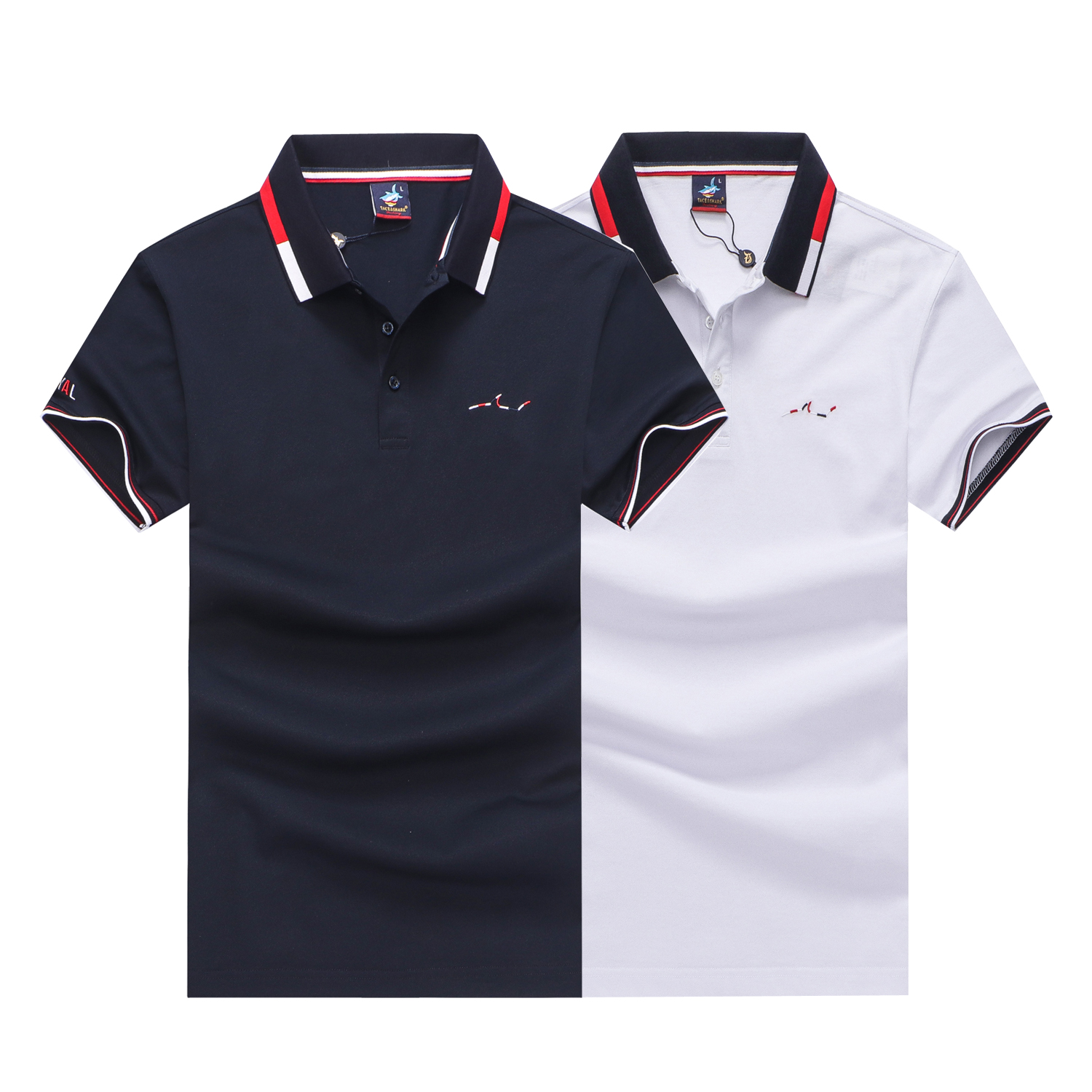 2019 New Tace & Shark Brand Polo Shirt Men Summer Casual Striped Cotton Polo Shirt Solid Formal Business Camisa Polo Shirt